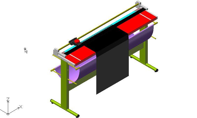 Bloques autocad gratis de cortadora de planos en 3d 3 for Muebles de oficina 3d autocad