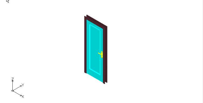 puerta en 3 dimensiones con marco