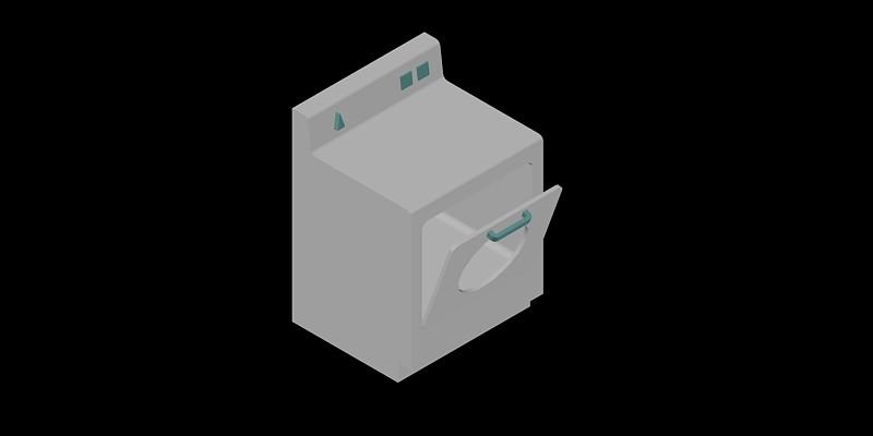 lavadora en 3 dimensiones