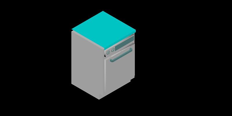 lavavajillas en 3 dimensiones