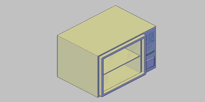 horno microondas en 3 dimensiones