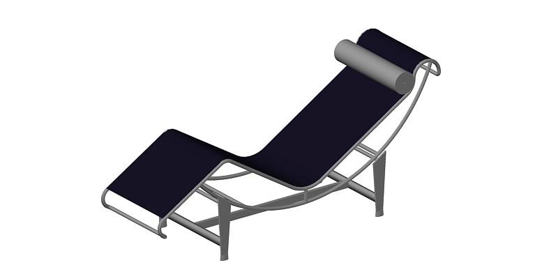 sillón Le Corbusier LC4 en 3 dimensiones