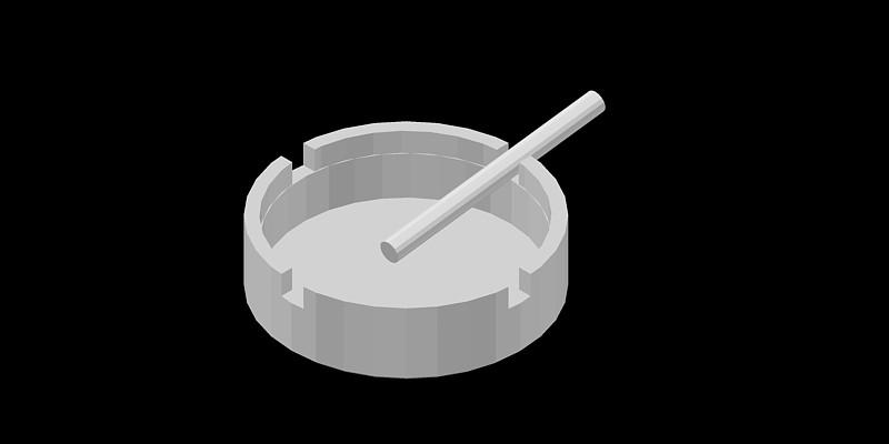 cenicero en 3 dimensiones