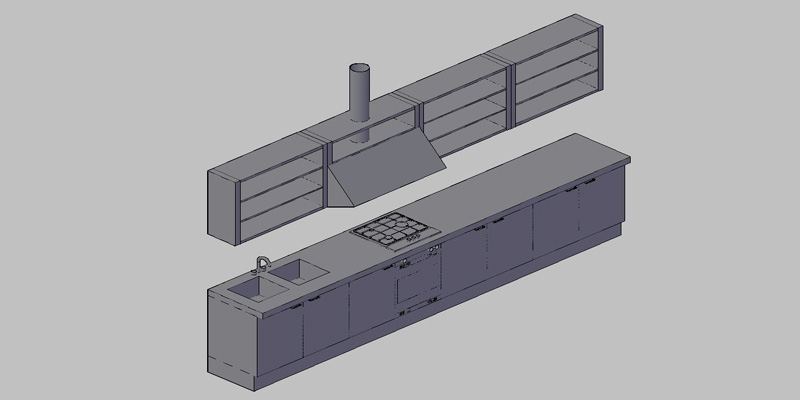 Bloques autocad gratis de amueblamiento completo de cocina for Muebles 3d autocad