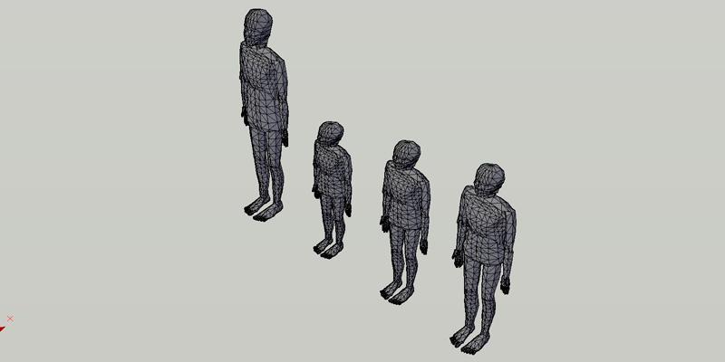 conjunto de figuras humanas en 3 dimensiones