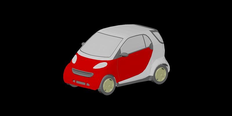 Minivehículo Smart en 3 dimensiones