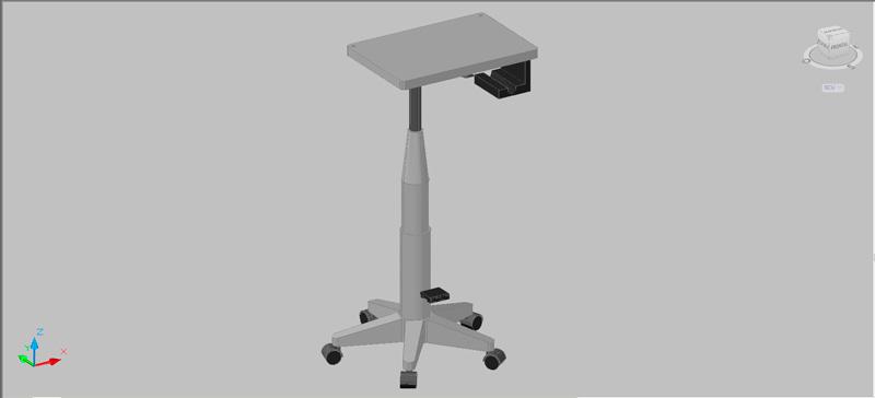 mesilla auxiliar rodante en 3d (3 dimensiones)