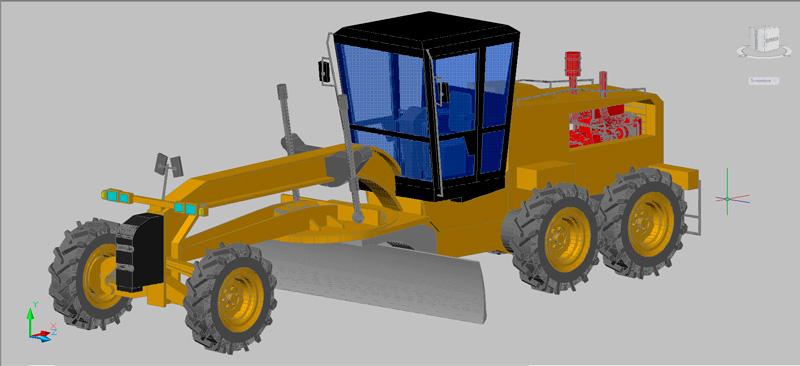 motoniveladora en 3d (3 dimensiones)