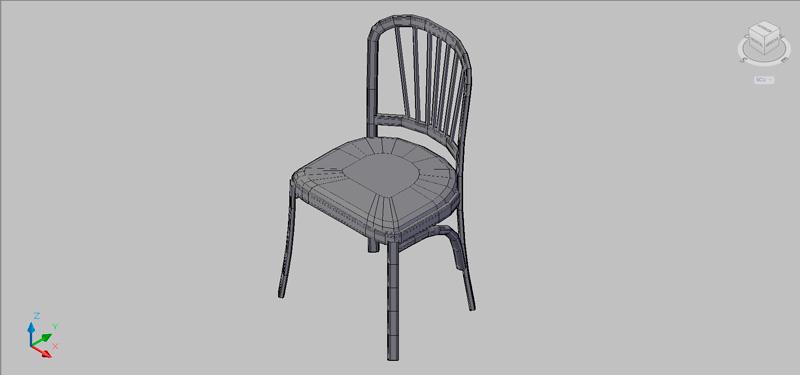 silla en 3 dimensiones