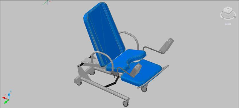 silla de exploraciones en 3d (3 dimensiones)