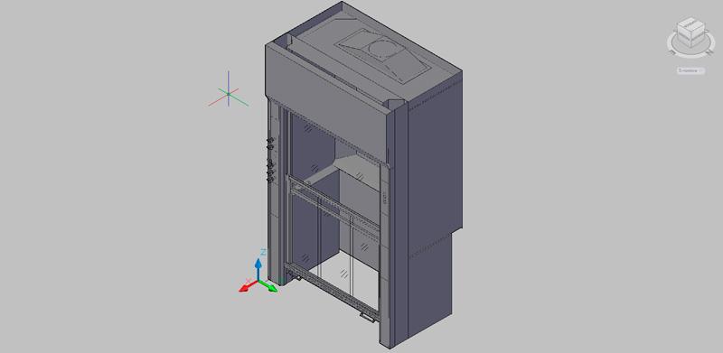 Vitrina de gases para laboratorio en 3d