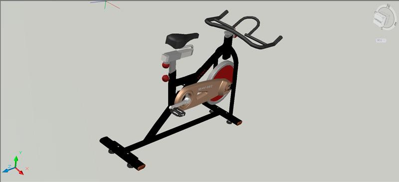 bicicleta estática en 3 dimensiones