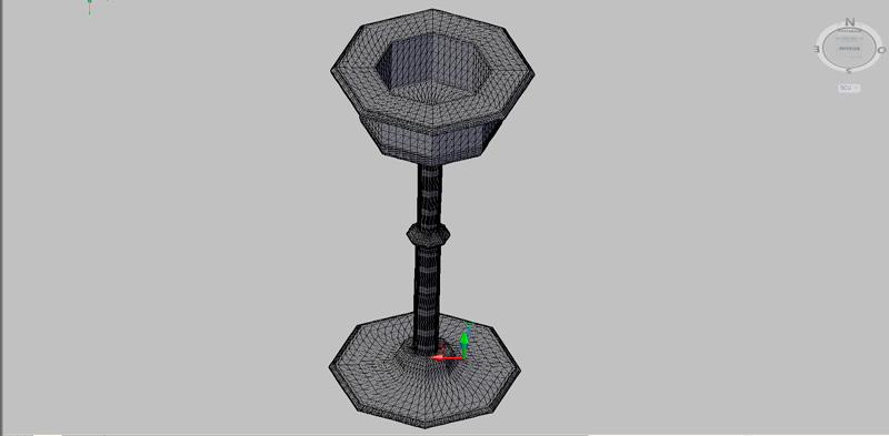 macetero de pedestal en 3 dimensiones