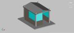 caseta de vigilancia en 3 dimensiones