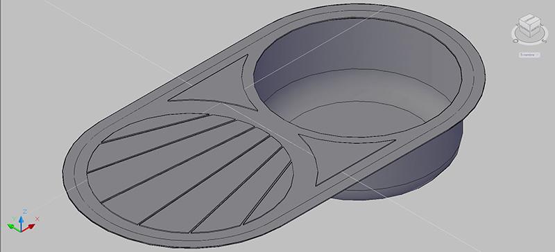 Bloques autocad gratis de fregadero circular con for Dimensiones fregadero