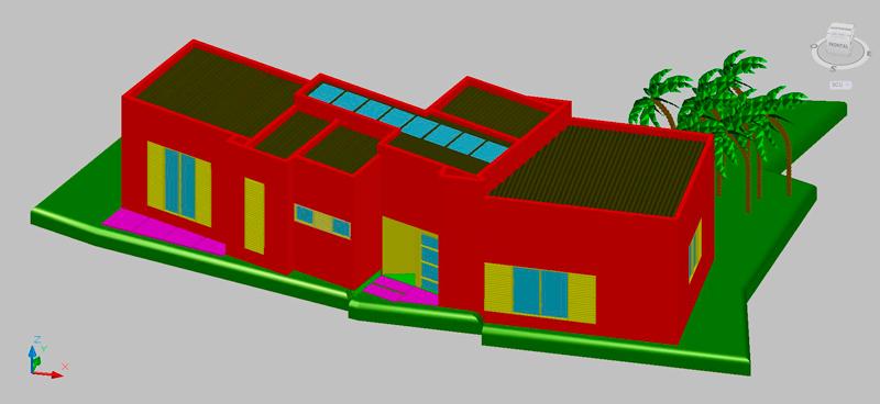 Casa cural en 3 dimensiones