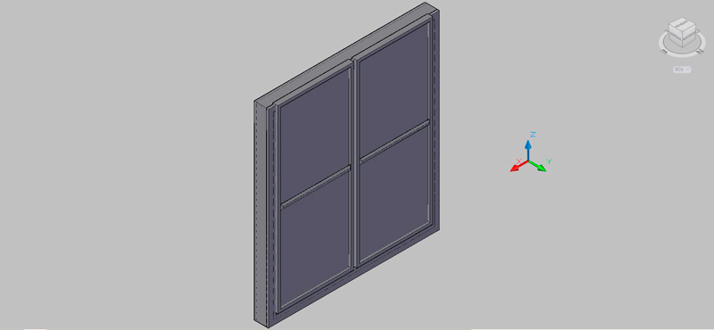 Bloques autocad gratis de puerta ventana de balc n en 3 for Puerta balcon