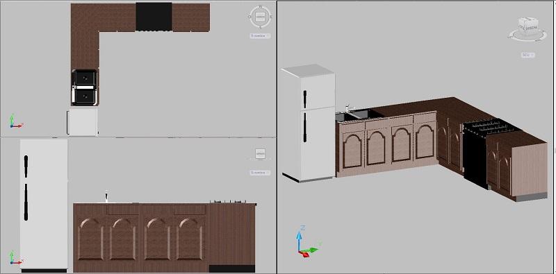 Bloques autocad gratis de mobiliario de cocina en 3 for Dimensiones muebles de cocina