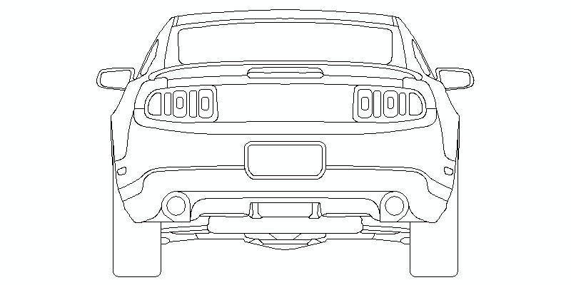 Ford Mustang Shelby GT500 2010 - alzado trasero