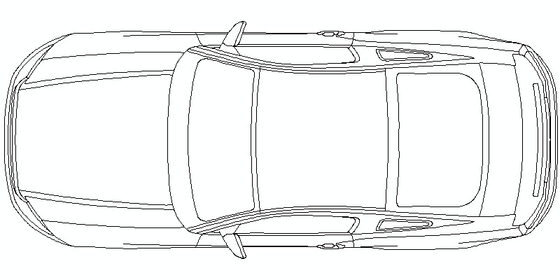 Ford Mustang Shelby GT500 2010 - vista en planta
