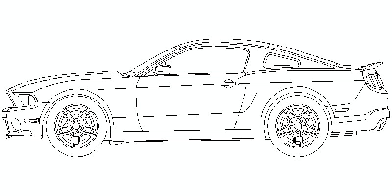 Ford Mustang Shelby GT500 2010 - Alzado lateral