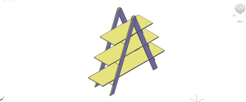 Estantería triangular Moderna 3D