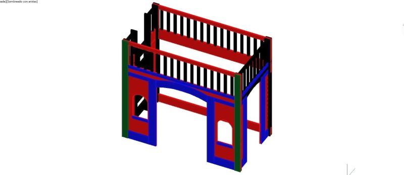 cama de tren en 3 dimensiones