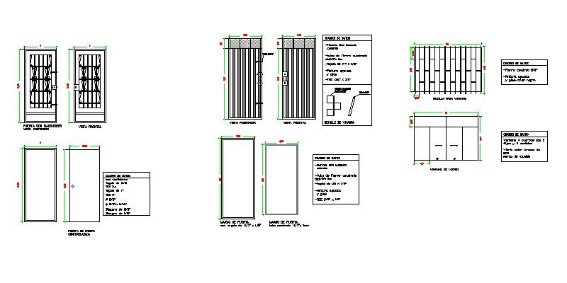 diseño de puertas metálicas en alzado