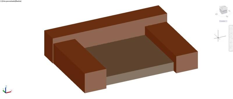 sillón en 3 dimensiones