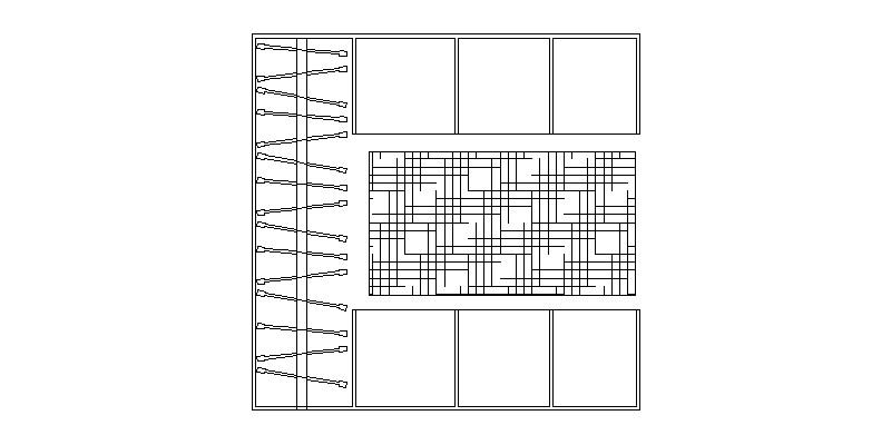 armario vestidor en planta