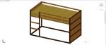 cama litera en 3 dimensiones