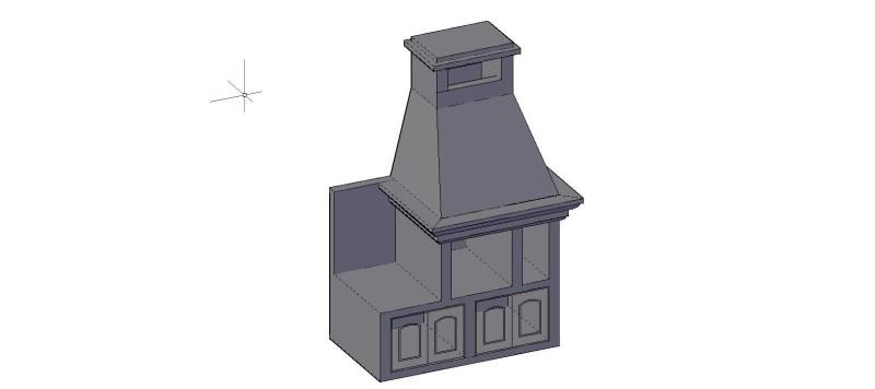 Asador, churrasquera en 3 dimensiones