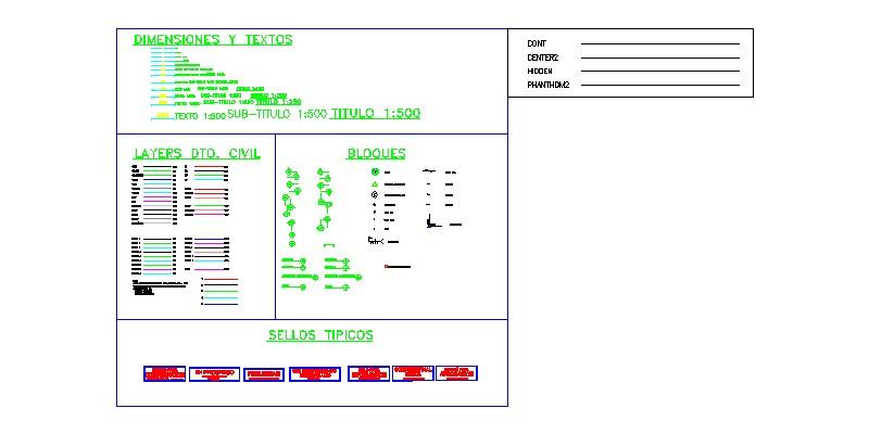 conjunto de estilos líneas, escalas y elementos de presentaciones.