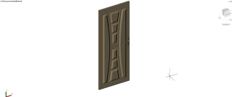 puerta exterior 3 dimensiones