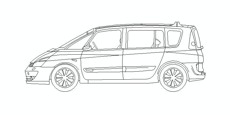 Renault Espace en vista de alzado lateral