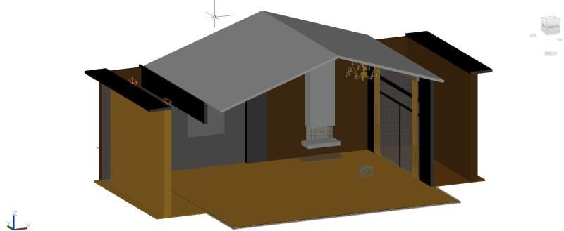 diseño inteior en 3d de sala