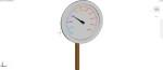 reloj marcador de aguja en 3 dimensiones